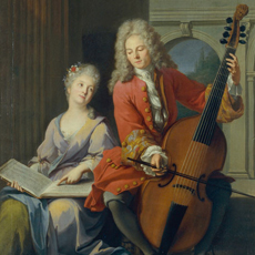 La Leçon de musique Jean-Marc Nattier - E.997.13.1 |