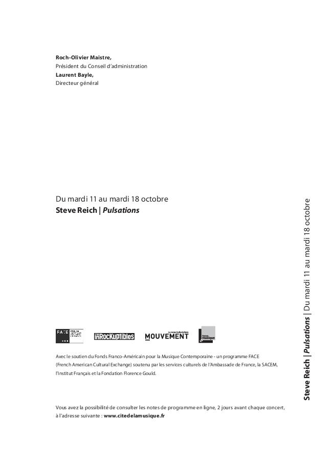 Steve Reich - Pulsations |