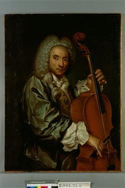 Portrait d'un violoncelliste | Ecole française