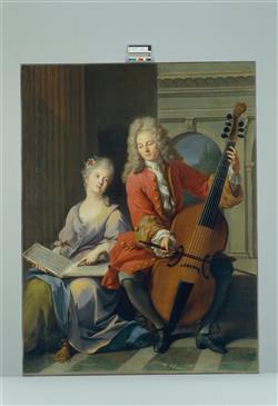 La Leçon de musique | Nattier, Jean-Marc