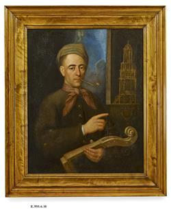 Portrait d'un luthier | Ecole française