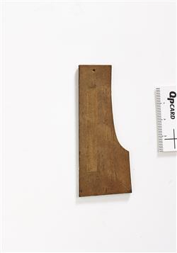 Gabarit pour le profil de talon de manche d'un violon | Antonio Stradivari