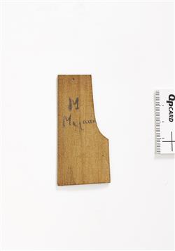 Gabarit pour le profil de talon de manche d'un violon   Antonio Stradivari